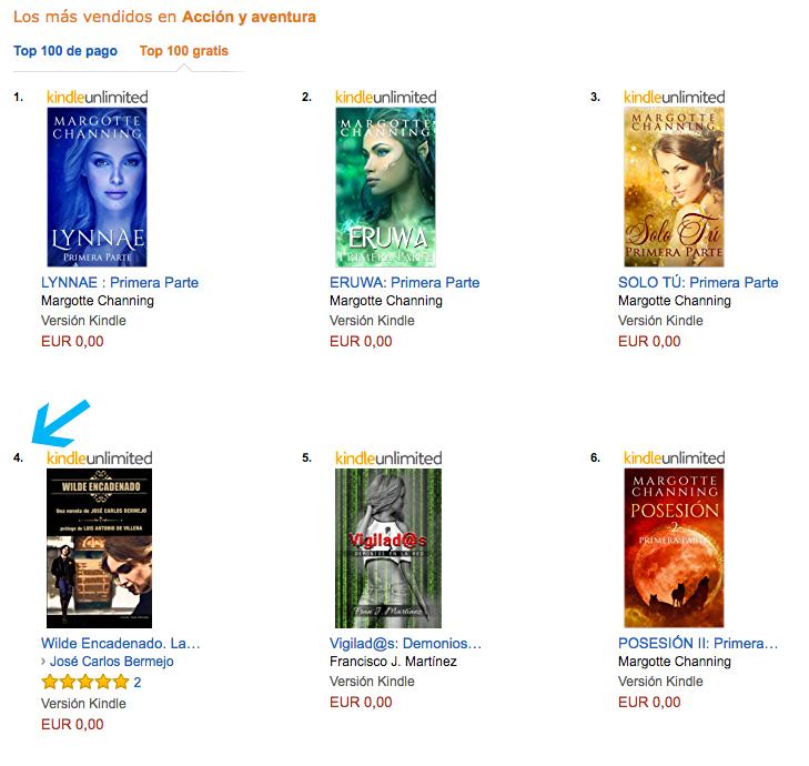 Wilde Encadenado, número 4 en Amazon
