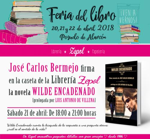 firma de la novela Wilde Encadenado en la Feria del libro 2018