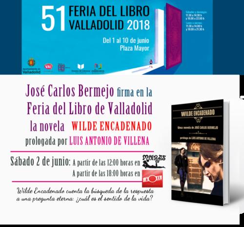 Firma ejemplares de Wilde Encadenado en la Feria del libro de Valladolid 2018