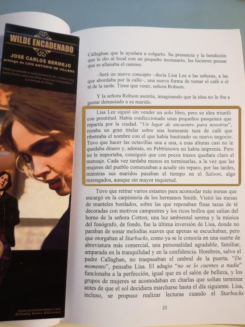 Wilde Encadenado y Feminismo, una de las temáticas de la novela de Jose Carlos Bermejo- Primera parte. Capítulo 5.